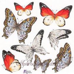 マウンテンバタフライ 蝶のステッカー 1シート ヴィクトリアン シール ラベル ビクトリアン Victorian ラッピング