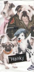 変装した犬たち 21.5cm角/ポケットペーパーハンカチ・紙ハンカチ/ミニペーパーナプキン
