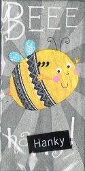 BEEE happy! ミツバチ 蜂 21.5cm角/ポケットペーパーハンカチ・紙ハンカチ/ミニペーパーナプキン