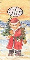 アスガー テディベア サンタベア asger 熊 クマ 21.5cm角/ポケットペーパーハンカチ・紙ハンカチ/ミニペーパーナプキン