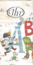 ABC イン・スクール   21.5cm角/ポケットペーパーハンカチ・紙ハンカチ/ミニペーパーナプキン