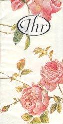 ニューランブリング・ローズ 薔薇   21.5cm角/ポケットペーパーハンカチ・紙ハンカチ/ミニペーパーナプキン
