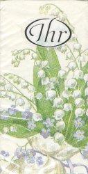 鈴蘭とスミレ 菫  21.5cm角/ポケットペーパーハンカチ・紙ハンカチ/ミニペーパーナプキン