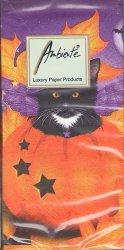 ハロウィン・キャット 猫 21.5cm角/ポケットペーパーハンカチ・紙ハンカチ/ミニペーパーナプキン