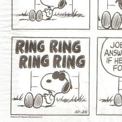 25cm 廃盤 限定品 スヌーピー 電話 コミック柄 キャラクター 1枚 ばら売り ペーパーナプキン デコパージュ スヌーピーミュージアム snoopy peanuts