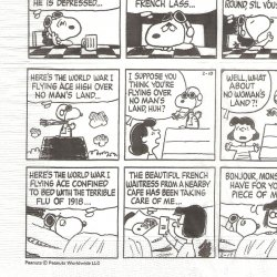 25cm 廃盤 限定品 スヌーピー レッドバロン コミック柄 キャラクター 1枚 ばら売り ペーパーナプキン デコパージュ スヌーピーミュージアム snoopy peanuts