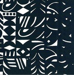 25cm マリメッコ YON VARJO 夜の闇 ヨンヴァリヨ 1枚 バラ売り ペーパーナプキン 紙ナプキン デコパージュ用 marimekko