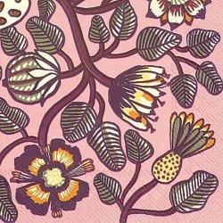 25cm マリメッコ  TIARA ティアラ ピンク 1枚 バラ売り ペーパーナプキン 紙ナプキン marimekko