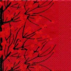 25cm 北欧 マリメッコ LUMIMARJA レッド ルミマルヤ  雪いちご 1枚 バラ売り ペーパーナプキン marimekko