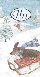 1パック10枚入 レーシングドッグ 犬 21.5cm角 ポケットペーパーハンカチ 紙ハンカチ ミニペーパーナプキン