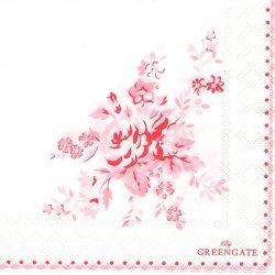 北欧 25cm 廃盤 グリーンゲート Abelone Raspberry ラズベリー 薔薇 ピンク一色 1枚 バラ売り ペーパーナプキン デコパージュ GREEN GATE