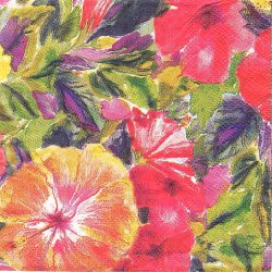 25cm ハワイ柄 ハイビスカス 1枚 バラ売り ペーパーナプキン デコパージュ 紙ナプキン Island Heritage