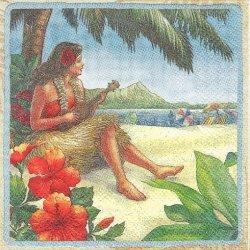 25cm ハワイ柄 ヴィンテージ・ハワイ 1枚 バラ売り ペーパーナプキン デコパージュ 紙ナプキン Island Heritage