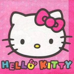 25cm ペーパーナプキン ハロー・キティ 虹色レインボー 1枚 デコパージュ用 バラ売り 紙ナプキン キャラクター Disney