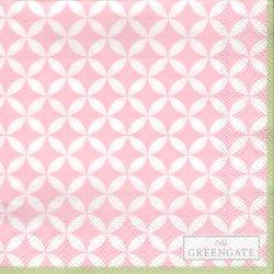 北欧 25cm 廃盤 グリーンゲート サークル ピンク 1枚 バラ売り ペーパーナプキン デコパージュ GREEN GATE