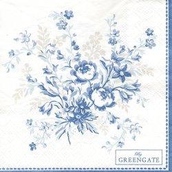 北欧 25cm 廃盤 グリーンゲート ローズ ブルー 薔薇 1枚 バラ売り ペーパーナプキン デコパージュ GREEN GATE