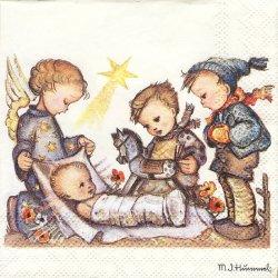 M. J. Hummel ペーパーナプキン イエス・キリストへの贈り物 1枚 33cm デコパージュ用 バラ売り 紙ナプキン Ambiente