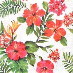 ハイビスカス ハワイ 南国トロピカル 1枚 バラ売り 33cm ペーパーナプキン デコパージュ用 紙ナプキン Paw