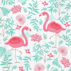 ペーパーナプキン ピンクのフラミンゴ 33cm 1枚 デコパージュ用 バラ売り 紙ナプキン daisy