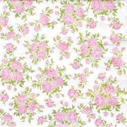 ペーパーナプキン リトル・ローズ 小さなピンクの薔薇 1枚 33cm デコパージュ用 バラ売り 紙ナプキン home fashion