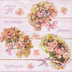 ペーパーナプキン ピンクの紫陽花ブーケ 33cm 1枚 デコパージュ用 バラ売り 紙ナプキン daisy