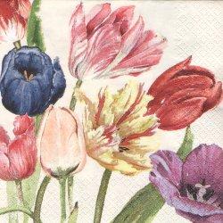 Amsterdam Tulips アムステルダムのチューリップ Mona Svard 水彩のチューリップ 1枚 バラ売り 33cm ペーパーナプキン デコパージュ home fashion