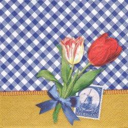ペーパーナプキン ポーランドのチューリップ 33cm 1枚 デコパージュ用 バラ売り 紙ナプキン ambiente
