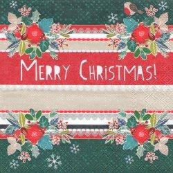 LOVELY CHRISTMAS ラブリー・クリスマス 33cm 1枚 ペーパーナプキン デコパージュ用 バラ売り 紙ナプキン ambiente
