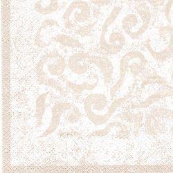 北欧 ペンティック VANILJA 唐草紋様 ベージュ ペーパーナプキン 33cm 1枚 デコパージュ用 バラ売り 紙ナプキン PENTIK