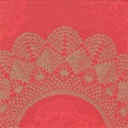 北欧 ペンティック NOSTALGIA 赤 ペーパーナプキン 33cm 1枚 デコパージュ用 バラ売り 紙ナプキン PENTIK