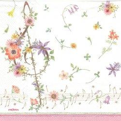二次販売可能 ミュージックフラワー 1枚 ばら売り 33cm ペーパーナプキン デコパージュ 紙ナプキン FRONTIA