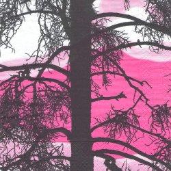 北欧 ヴァリラ KELOHO 樹のシルエット ペーパーナプキン 1枚 33cm デコパージュ バラ売り 紙ナプキン VALLILA