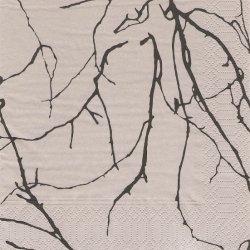 北欧 ヴァリラ OKSAT ノット 木の枝 ペーパーナプキン 1枚 バラ売り 33cm デコパージュ 紙ナプキン VALLILA