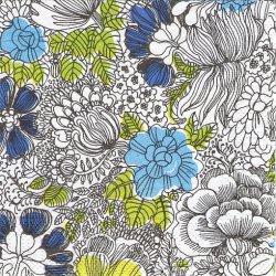 25cm 北欧 ヴァリラ MON AMOUR モナムール 花柄 ペーパーナプキン 1枚 デコパージュ用 バラ売り 紙ナプキン VALLILA