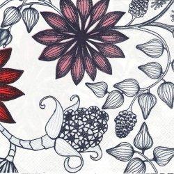 40cm 廃盤希少品 北欧 アラビア RUNO ルノ 白 クリスマス ペーパーナプキン 1枚 デコパージュ バラ売り 紙ナプキン ARABIA