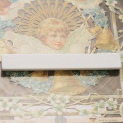 白い棒(バー)型  小 10cm マグネット デコパージュ トールペイント ハンドメイドユース