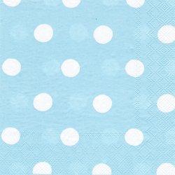 廃番 キャス・キッドソン ボタンスポット ブルー 1枚 バラ売り 33cm デコパージュ ペーパーナプキン Cath Kidston