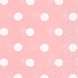 廃番 キャス・キッドソン ボタンスポット ピンク 1枚 バラ売り 33cm デコパージュ ペーパーナプキン Cath Kidston