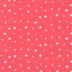 廃番 キャス・キッドソン STAR レッド クリスマス・スター 星 1枚 バラ売り 33cm デコパージュ ペーパーナプキン Cath Kidston