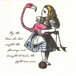 不思議の国のアリス 1枚 バラ売り 33cm ペーパーナプキン デコパージュ 紙ナプキン Alice in Wonderland Talking Tables