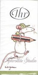 1パック10枚入 FIRST DAY OF SCHOOL アニタ・ジェラーム 初めての登校 Anita Jeram 21.5cm角 ポケットペーパーハンカチ 紙ハンカチ Ihr