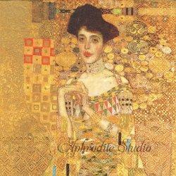 KLIMT-ADELE BLOCH-BAUER クリムト アデーレ・ブロッホ・バウアーの肖像 1枚 ばら売り 33cm ペーパーナプキン デコパージュ用 Ihr