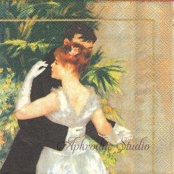 RENOIR: DANSE A LA VILLE 都会のダンス ルノアール オルセー美術館 1枚 ばら売り 33cm ペーパーナプキン デコパージュ用 Ihr