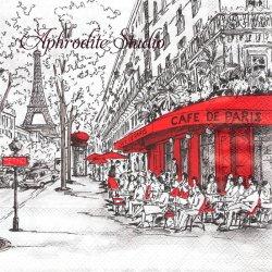 JOU PARIS パリの風景 1枚 ばら売り 33cm ペーパーナプキン デコパージュ用 Ambiente