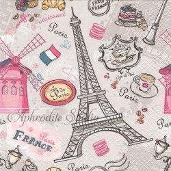 The Sights of Paris パリ観光 1枚 ばら売り 33cm ペーパーナプキン デコパージュ用 Daisy