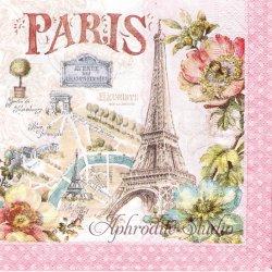 PARIS FOREVER 美しいパリ 1枚 ばら売り 33cm ペーパーナプキン デコパージュ用 Easy Life