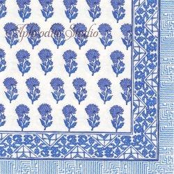 廃盤 BATIK FUCHSIA バテッィク模様 ブルー Bunny Williams 1枚 ばら売り 33cm ペーパーナプキン デコパージュ用 Caspari カスパリ