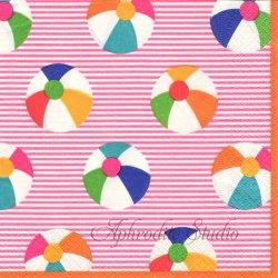 廃盤 BOUNCE 紙風船 ピンク 1枚 ばら売り 33cm ペーパーナプキン デコパージュ用 Caspari カスパリ
