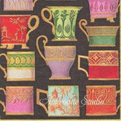 V&A SALON DE THE ティーカップ ブラック Victoria & Albert Museum 1枚 ばら売り 33cm ペーパーナプキン Caspari カスパリ