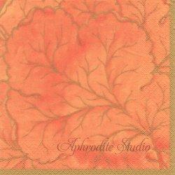 GILDED MAJOLUCA マヨルカ・セラミックデザイン オレンジ 1枚 ばら売り 33cm ペーパーナプキン デコパージュ用 Caspari カスパリ